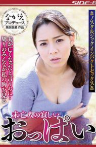 NSPS-683 Although I Say That My Lonely Lonely Tits Husband Died Everyone Around Me Looks At My Chest Natsuko Mishima